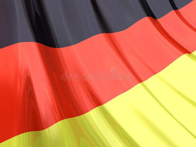 glansowany flaga Niemiec royalty ilustracja