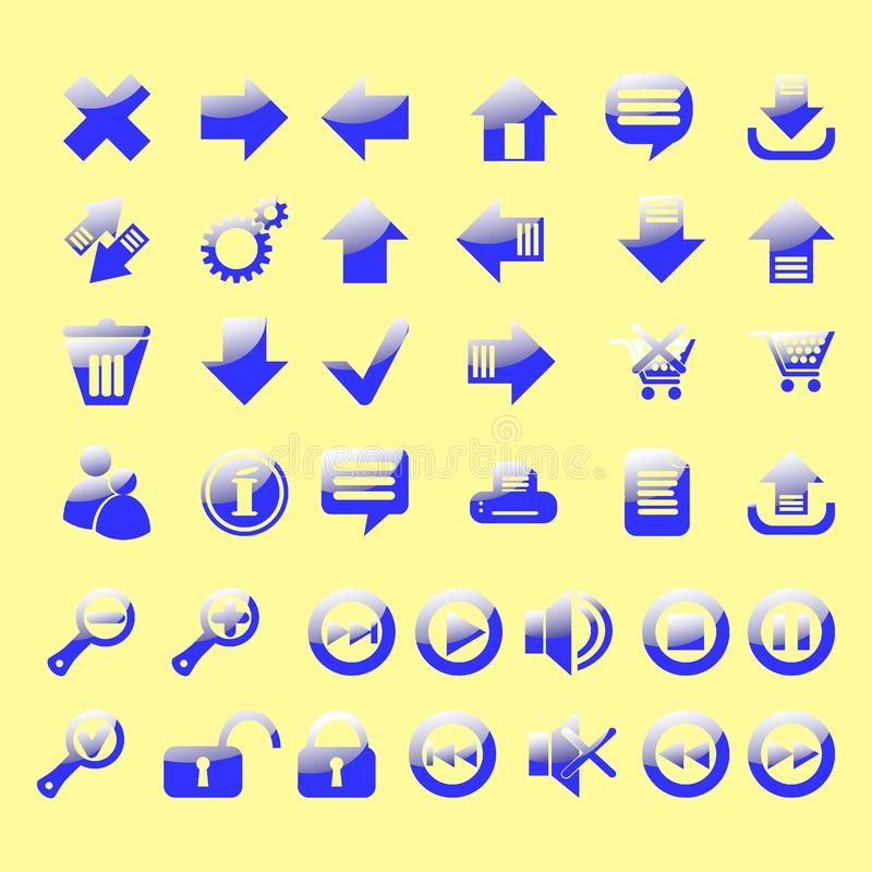 Glansowany ikona set