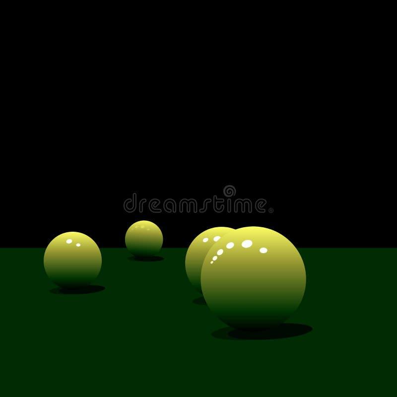 glansowany piłka basen ilustracja wektor