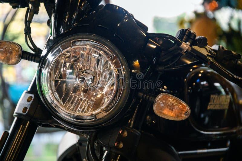 Glanst de zwarte triomf van close-upducati van van de motordelen stock foto
