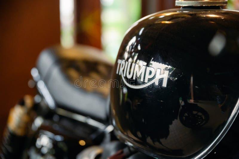 Glanst de zwarte triomf van close-upducati van van de motordelen royalty-vrije stock afbeeldingen