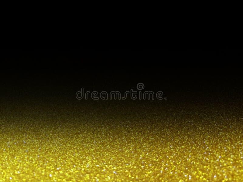 Glanst het Bokeh gouden schitterende licht op zwarte, gouden het fonkelen luxe grote helder voor achtergrondschoonheidsmiddelen a stock foto's