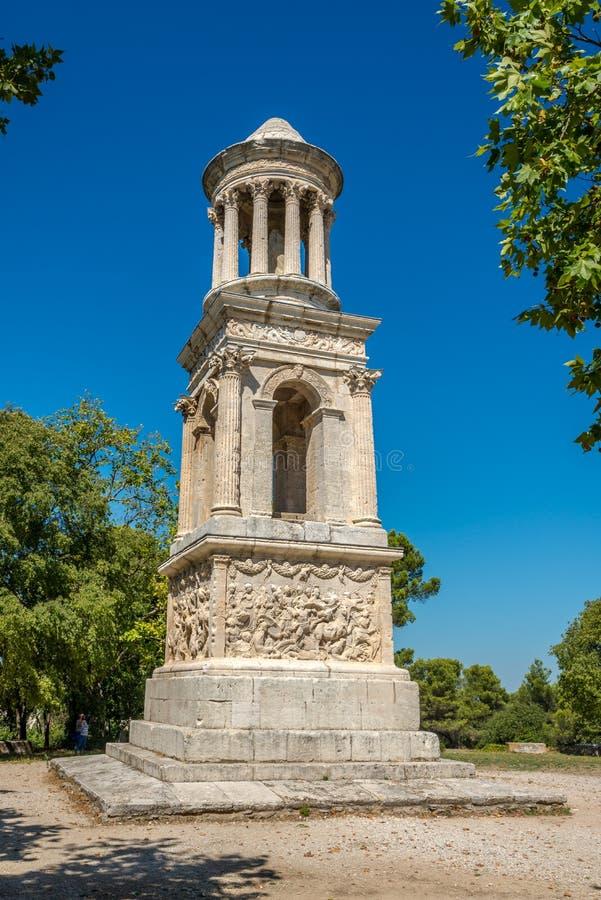 Glanum圣徒雷米de普罗旺斯陵墓  库存照片