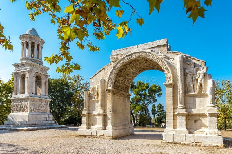 Glanum, Provence imagem de stock