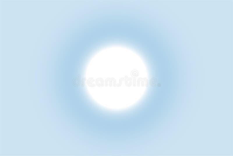 Glanz des hellen Sonnenscheins im klaren blauen Himmel vektor abbildung