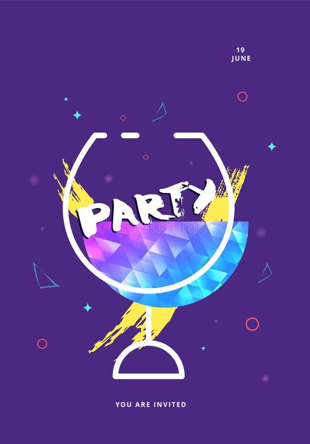 Glanz-Dunkelheitsfahnen der Partei violette Auch im corel abgehobenen Betrag stock abbildung