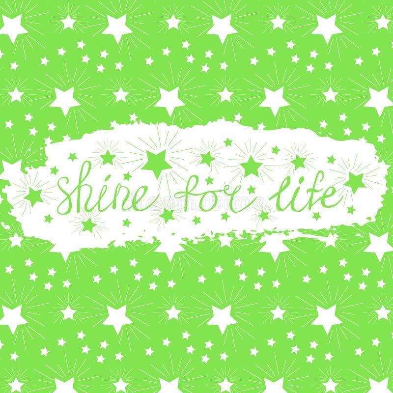 Glanz für Lebenphrase des Slogans auf dem Hintergrund eines Bürstenanschlags lizenzfreie abbildung