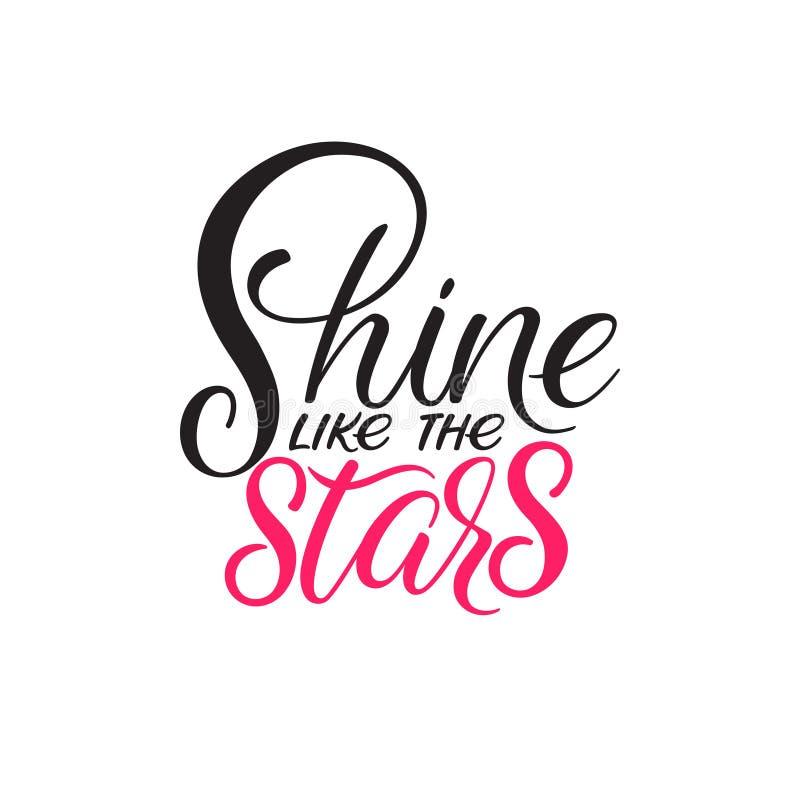 Glanz wie die Sterne stock abbildung