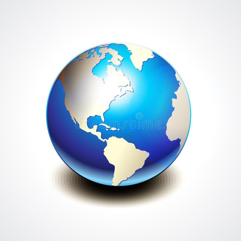 Glanzend Aardepictogram vector illustratie