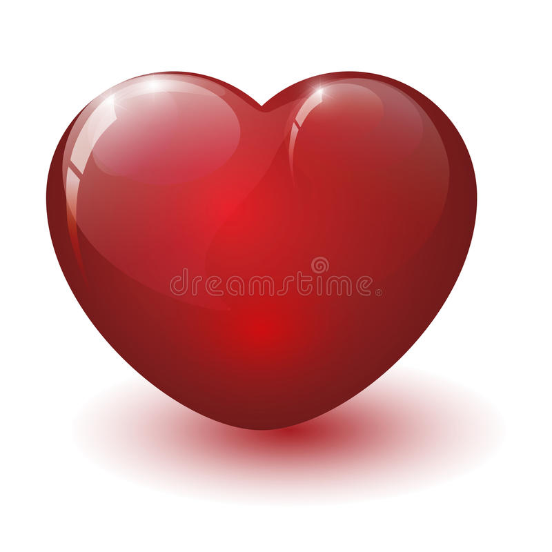 Glanzend gebroken hart vector illustratie