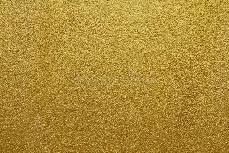 Glanzend geel bladgoud van de achtergrond van de muurtextuur royalty-vrije stock foto
