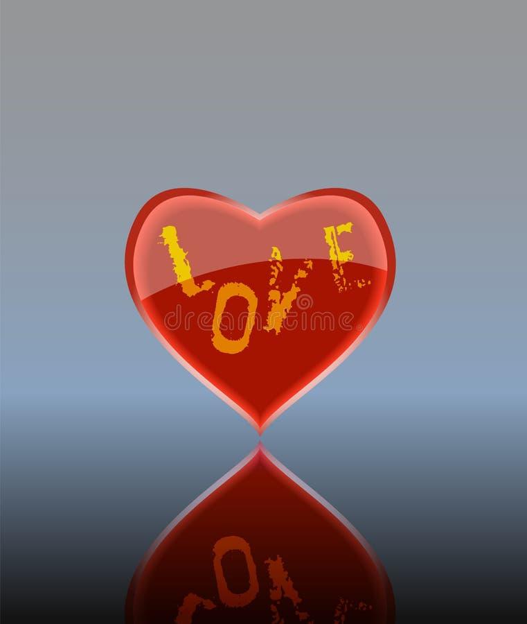 Glanzend hart vector illustratie