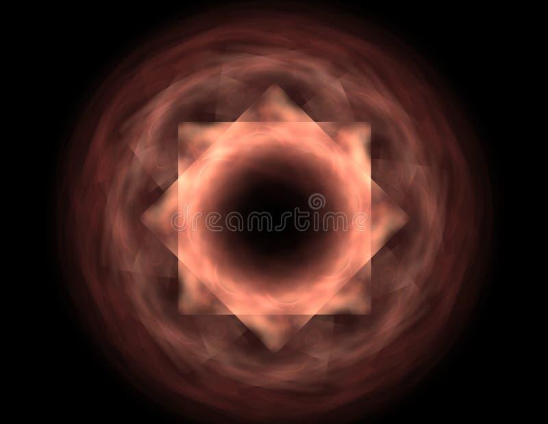 Glanzend kleurrijk fractal ruimte, digitaal kunstwerk voor creatief grafisch ontwerp royalty-vrije illustratie