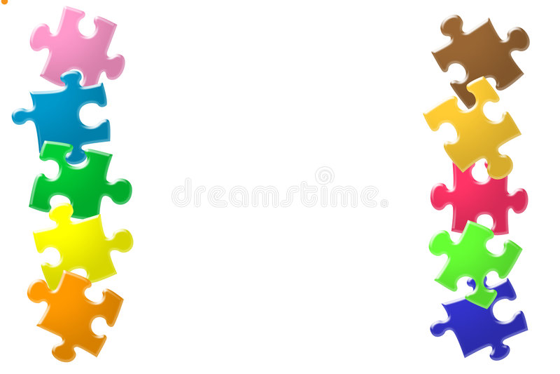 Glanzend kleurrijk raadsel vector illustratie