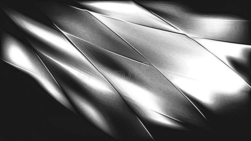 Glanzend Koel Grey Metal Texture stock illustratie