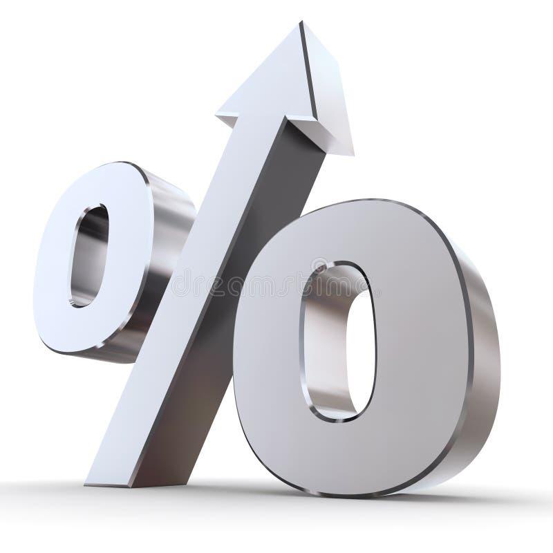 Glanzend Percentage omhoog vector illustratie
