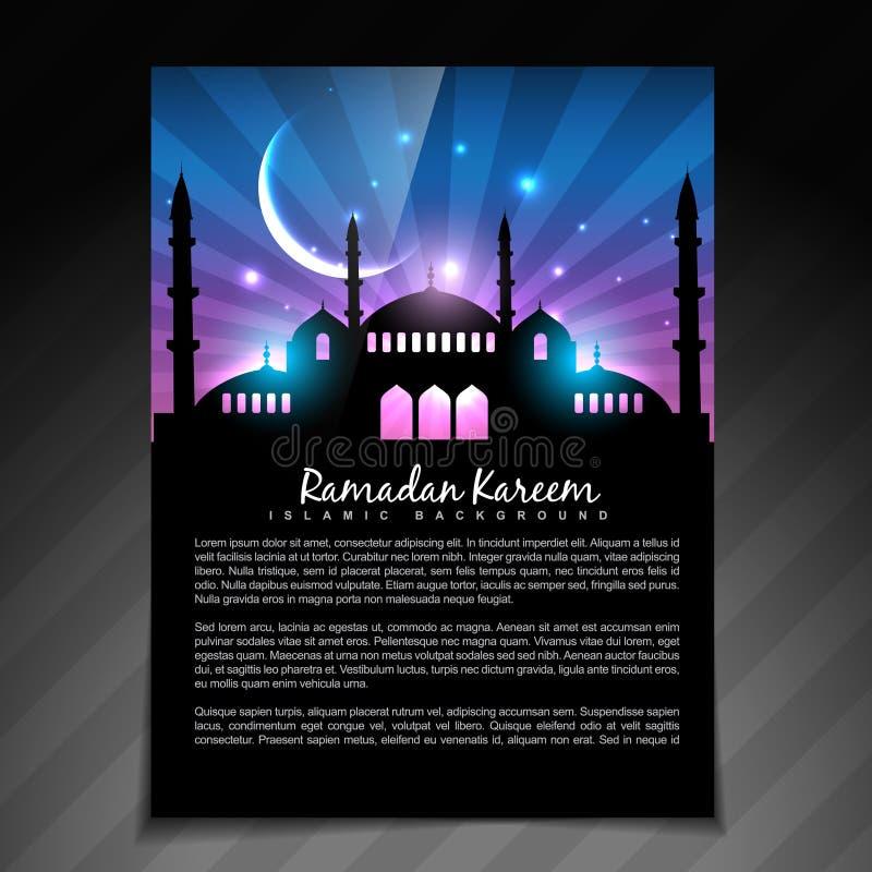 Glanzend ramadan malplaatje