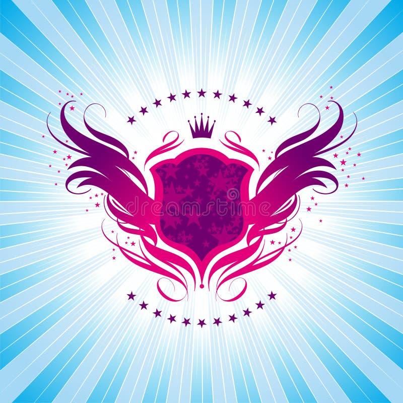 Glanzend schild vector illustratie