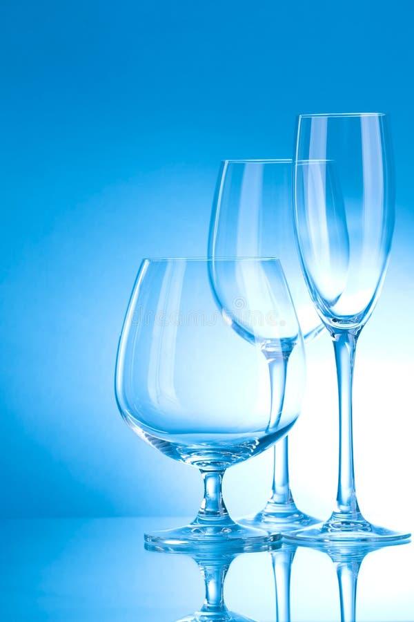 Glanzend schoon glas stock afbeelding