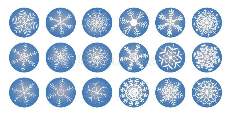 Glanzend sneeuwvlokkenpictogram stock foto