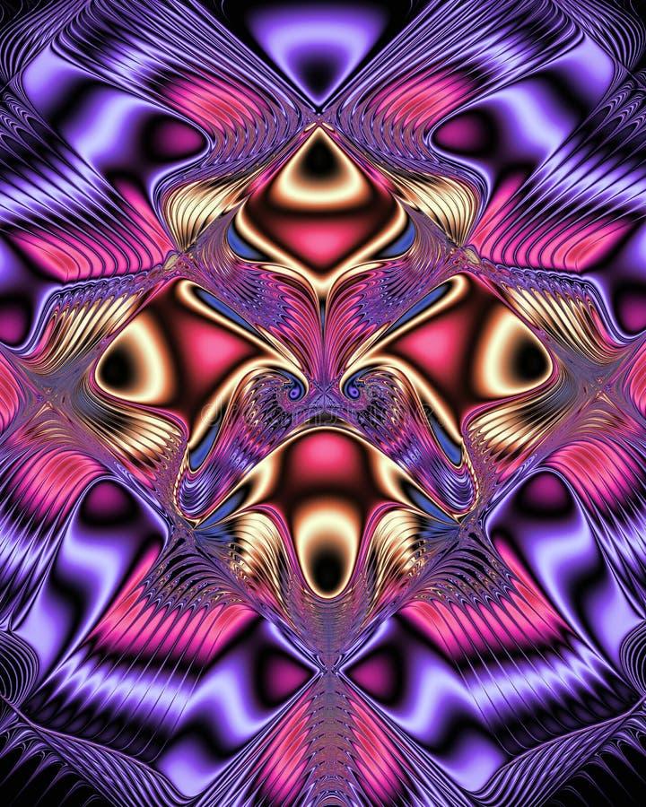 Glanzend symmetrisch digitaal patroon vector illustratie