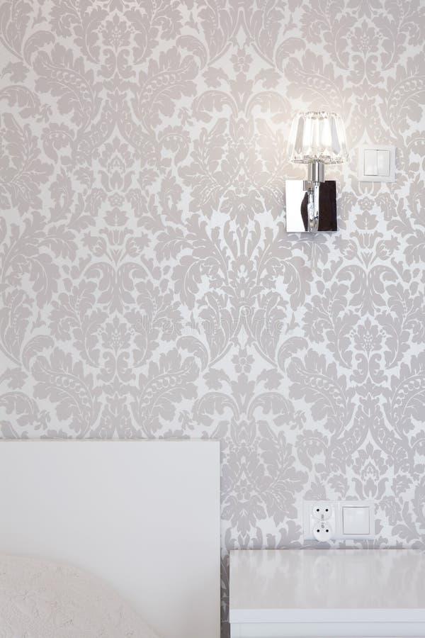 Glanzend zilveren behang stock foto