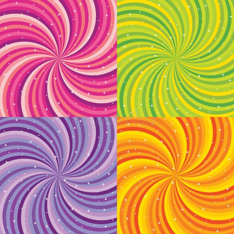 Glanzende abstracte achtergrond - groene sinaasappel, roze royalty-vrije illustratie