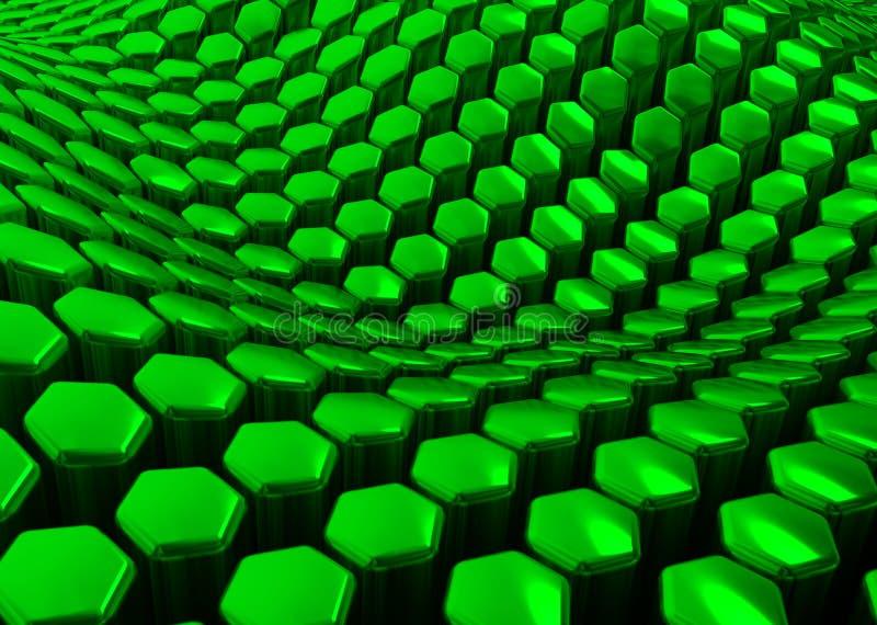 Glanzende abstracte groene achtergrond van zeshoeken vector illustratie