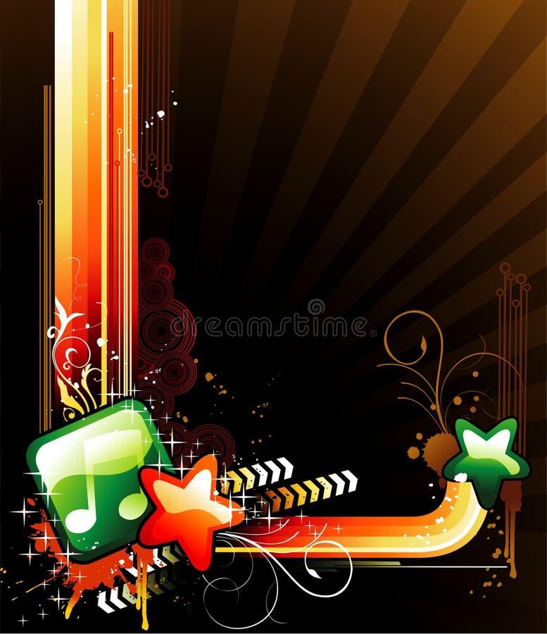 Glanzende abstracte vector stock illustratie