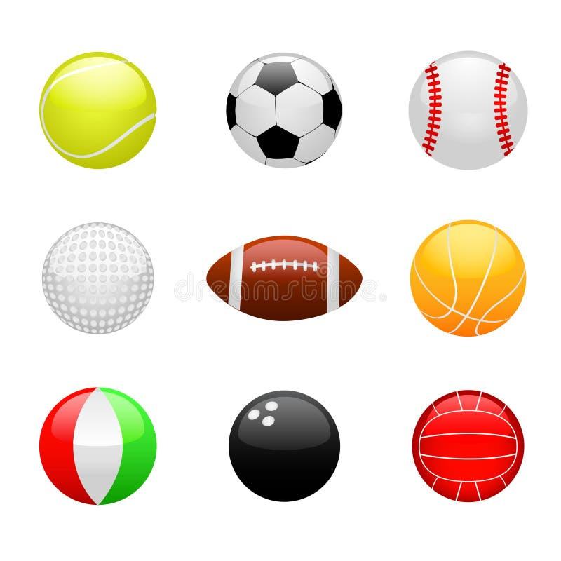Glanzende ballen vector illustratie