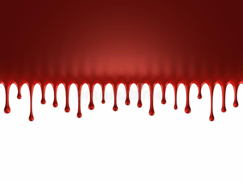 Glanzende bloedplons royalty-vrije illustratie