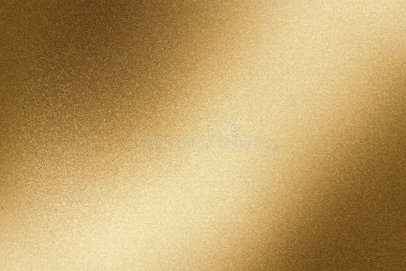Glanzende bruine staalmuur, abstracte textuurachtergrond royalty-vrije illustratie