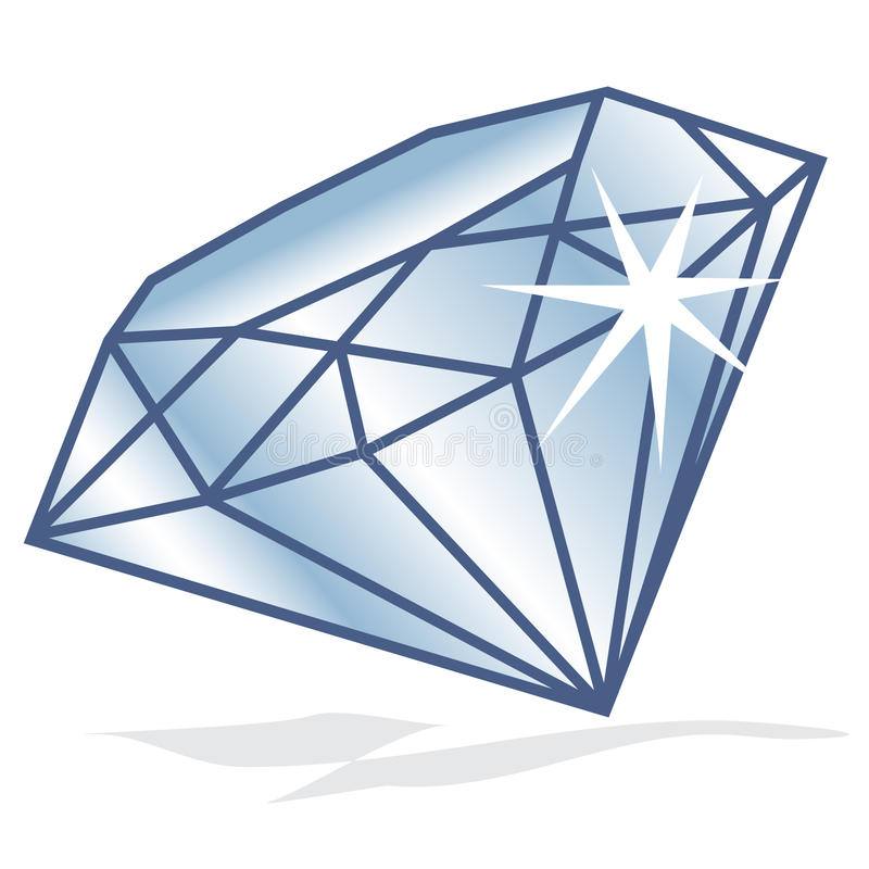 Glanzende diamant vector illustratie