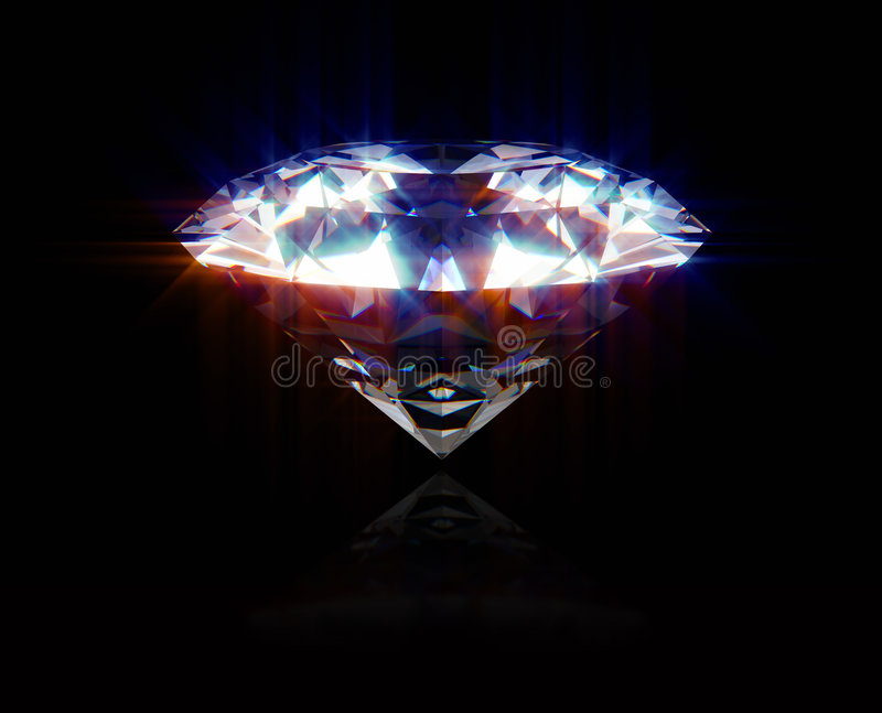 Glanzende Diamant stock illustratie