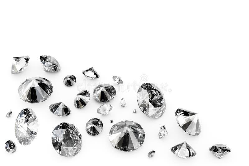 Glanzende diamanten vector illustratie