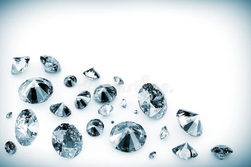 Glanzende diamanten royalty-vrije illustratie