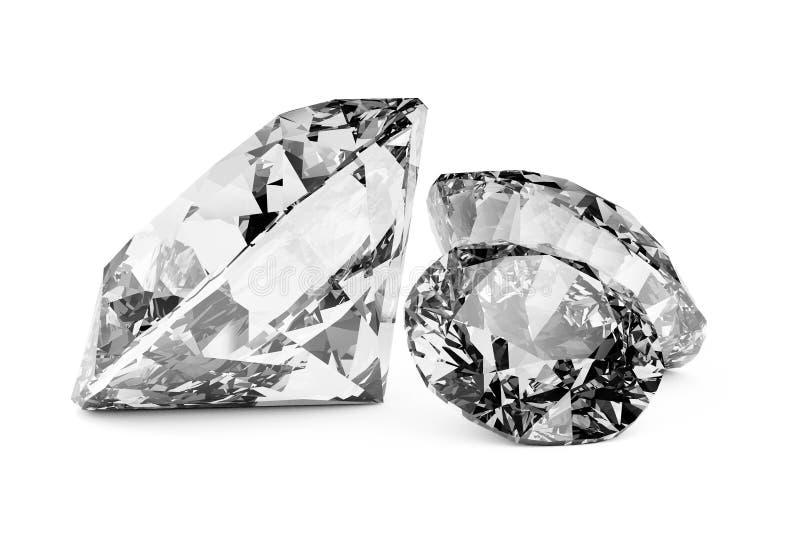 Glanzende diamanten stock illustratie