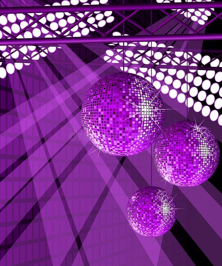 Glanzende discoballen. stock illustratie