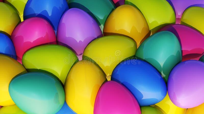 Glanzende eieren royalty-vrije stock foto's