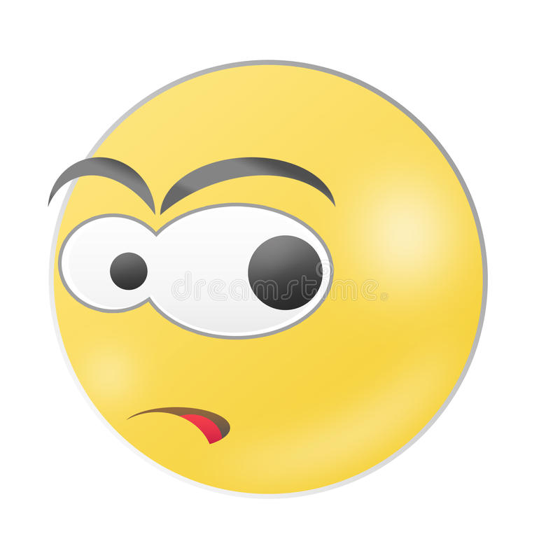 Glanzende Emoticon vector illustratie