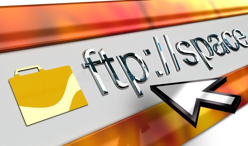 Glanzende FTPInternet browser vector illustratie