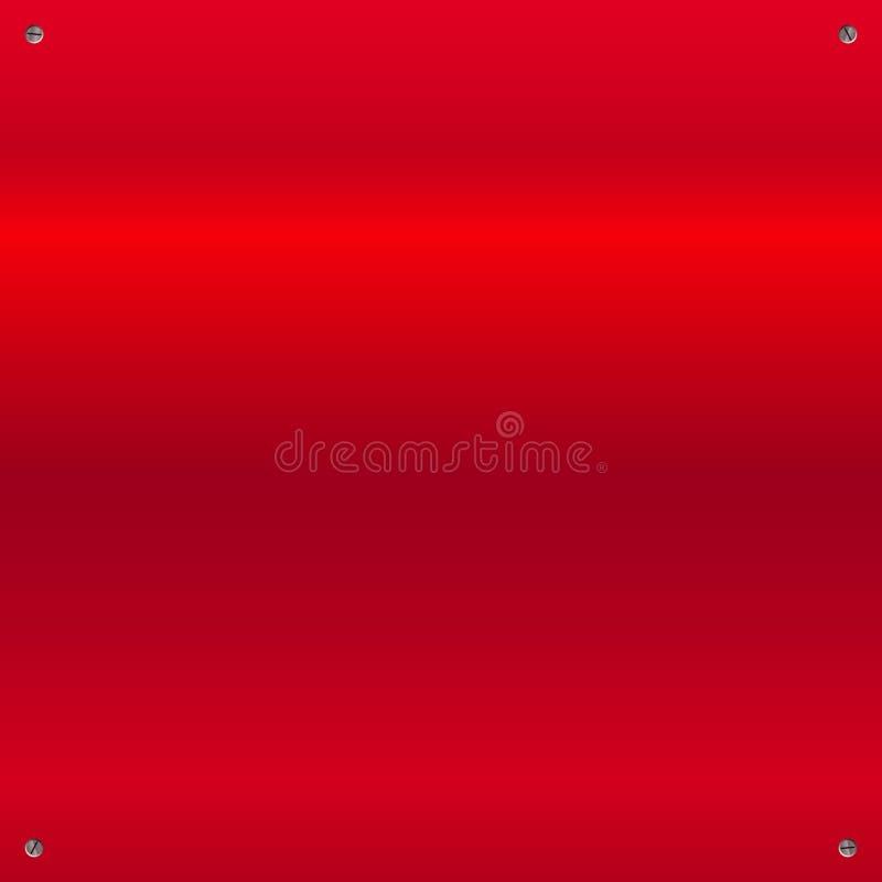 Glanzende geborstelde, opgepoetste metaalachtergrond met schroeven vector illustratie