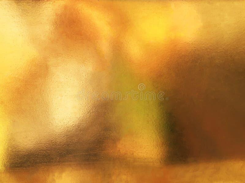 Glanzende gele de textuurachtergrond van de blad gouden folie stock foto