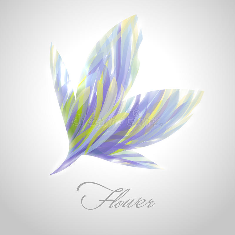 Glanzende gestreepte bloem. Vector illustratie. stock illustratie
