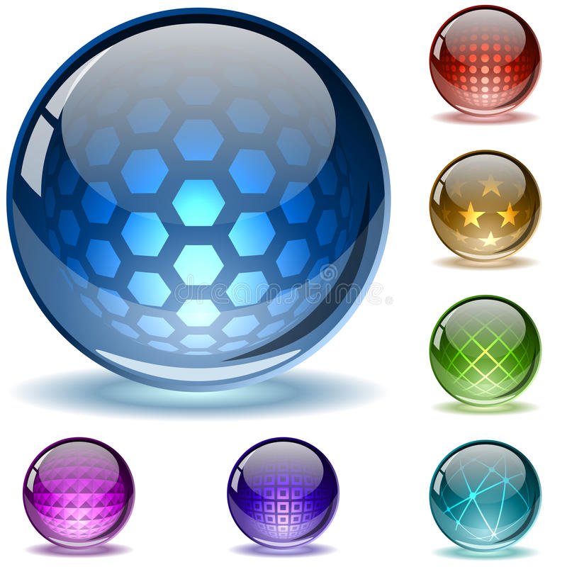 Glanzende geweven bollen vector illustratie