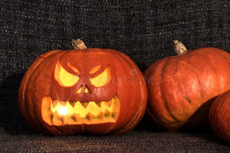 Glanzende Halloween-pompoen royalty-vrije stock fotografie
