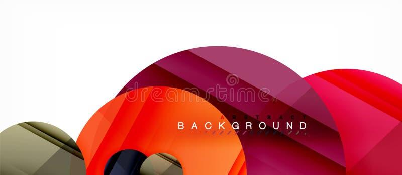 Glanzende kleurrijke cirkels abstracte achtergrond, modern geometrisch ontwerp vector illustratie