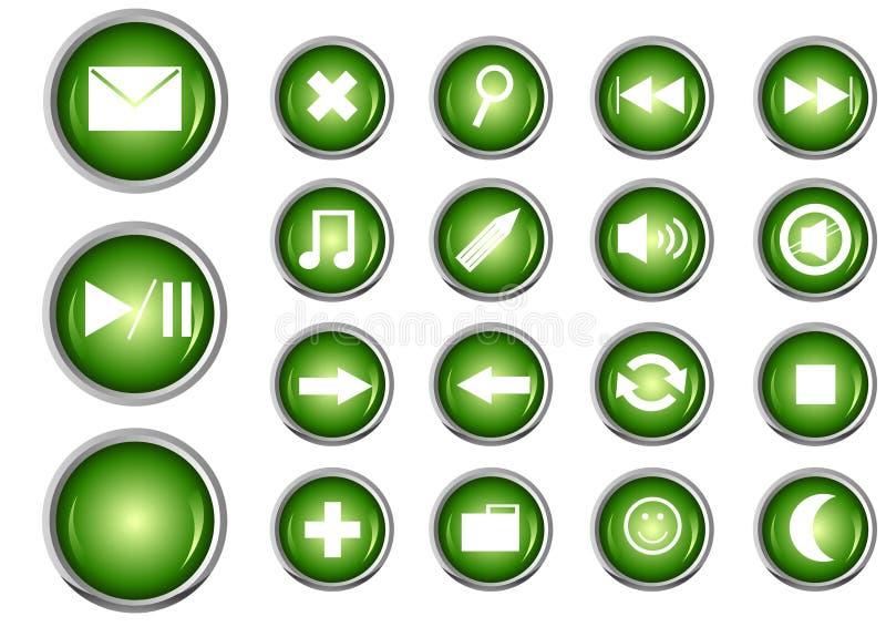 Glanzende Knoop die voor Web wordt geplaatst vector illustratie