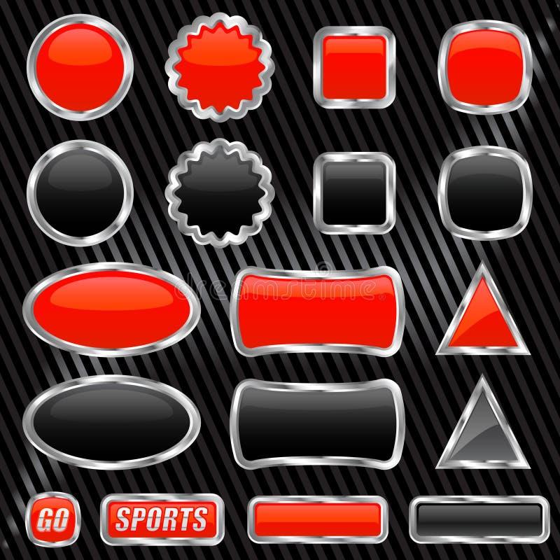 Glanzende knopen vector illustratie