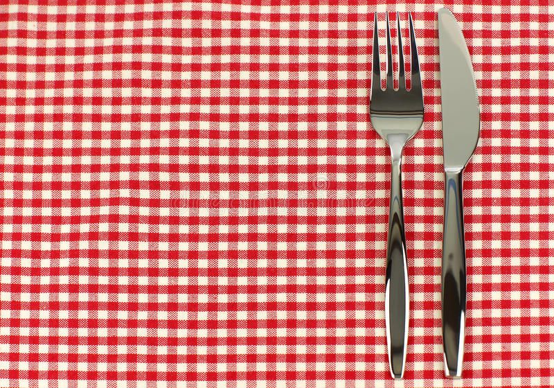 Glanzende mes en vork stock fotografie